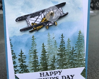 Birthday, all occasion, retirement, Father's Day, aviation, airplane, handmade, made in Alaska