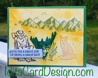 All occasion, birthday, retirement, Fathers Day, Masculine Birthday, Outdoors and Nature, made in Alaska, handmade, Stampin' Up