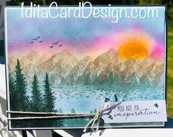 Alaska, Sunrise in Alaska, Thinking of You, Thank you, Birthday, Stampin' Up, handmade, made in Alaska