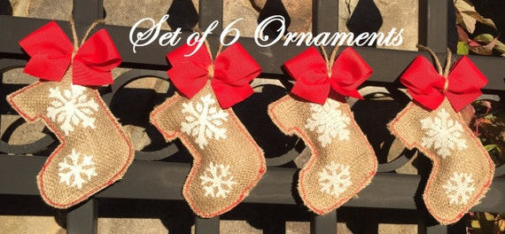 image 0 - Burlap Christmas Decorations For Sale