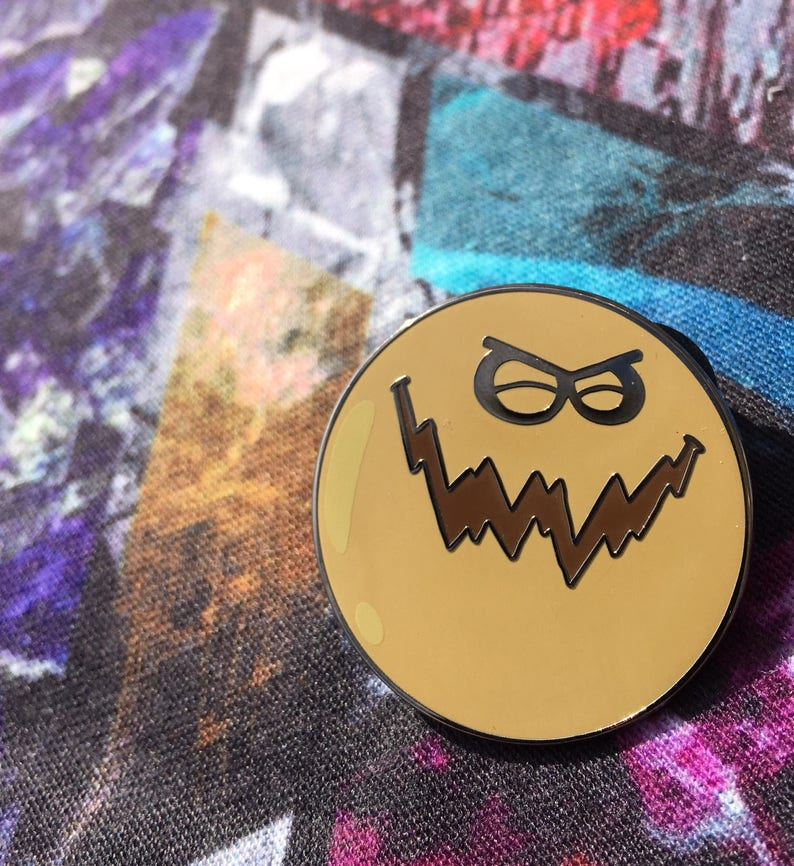 a3eb4c4bd6d The dirty bubble evil hat pin EDM Clothing Electric