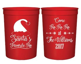 Santa/'s Favorite Ho Can Coolers Ho Ho Ho Favors Funny Christmas Party Favors Funny Christmas Can Coolers 126 Raunchy Christmas Party