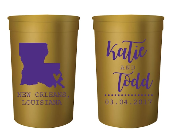New Orleans Stadium Cups Nola Wedding Cajun Wedding Etsy
