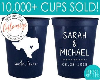16oz Personalized Cups, Custom Wedding Cups, Wedding Cups, Party Cups, Custom Wedding Cups, Plastic Cups, Stadium Cups, Custom Cups (5)