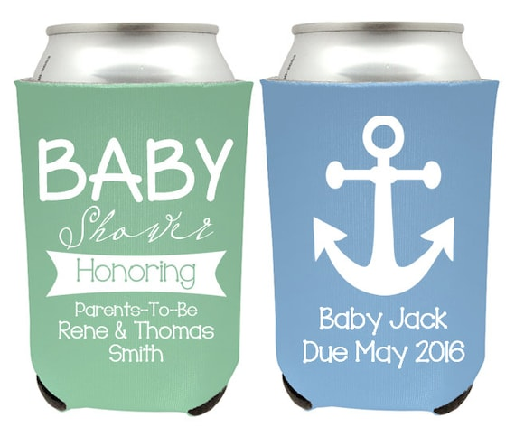 Baby Shower Beer Can Coolers Baby Shower Honoring Parents Etsy