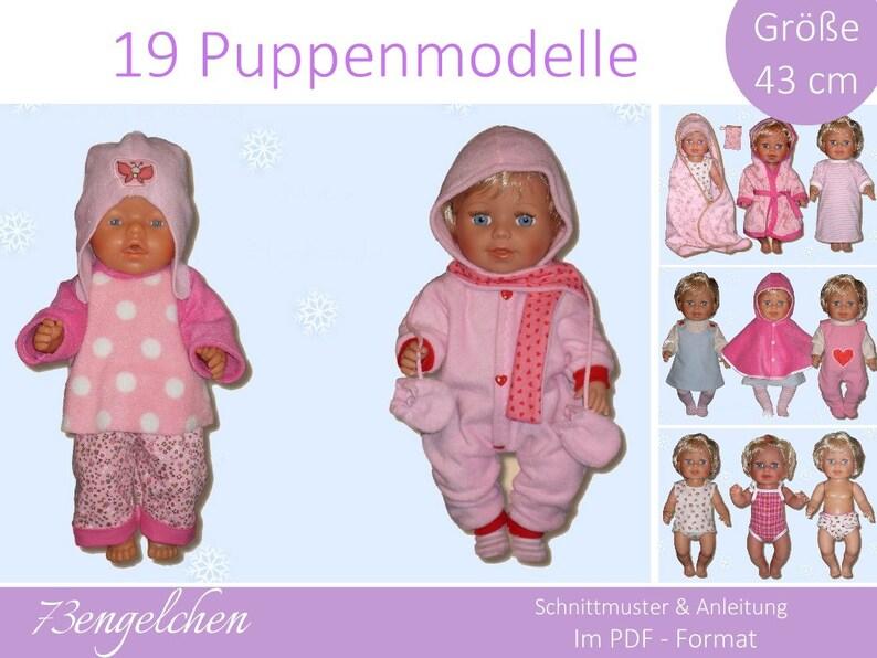 Babypuppen & Zubehör Puppenkleidung für Baby Born 43cm  Lila Bademantel Puppen & Zubehör