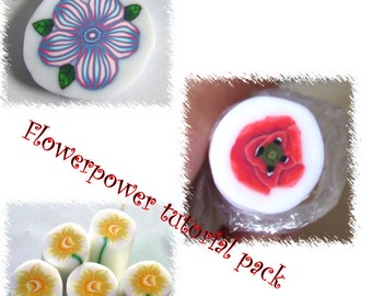 Flower power tutorial pack, buy two get the third one free!