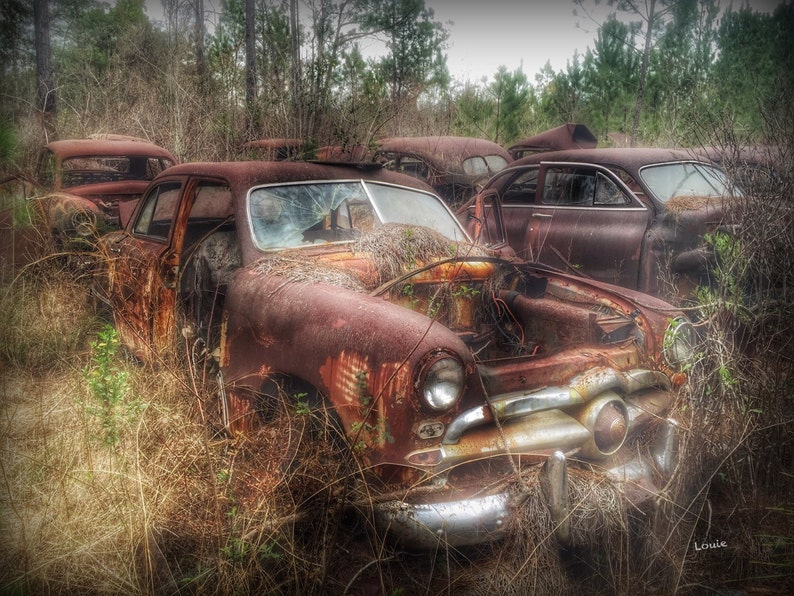 1949 Ford Coupe - ford, art, old car, coupe, antique car, classic car,  rusty car