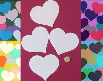Extra large hearts 11.5 cm (4.5 ins) Weddings. Valentines. Card making. Bunting.