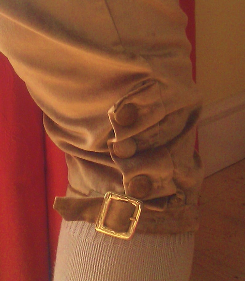 quality handmade: theatre Darcy or Dickens re-enactment Georgian and Regency Gentleman/'s velvet fall-front breeches 18th19th century