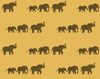 """Elephant Wrapping Paper Sheet // Choice of Colours - Yellow, Kraft or Cream // Recycled Paper // (70cm x 50cm / 27.5"""" x 19.5"""")"""