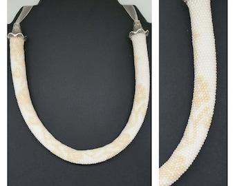 "Necklace ""Johanna"" wedding, beads crochet"