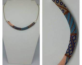 "Necklace ""Jane"", crochet beads."