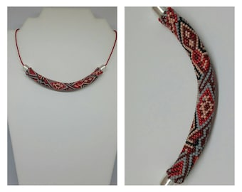 "Necklace ""Paula"", crochet beads."