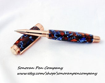 Beaufort Leveche Fountain Pen in Multi-Pink Acrylic with Rose Gold Components