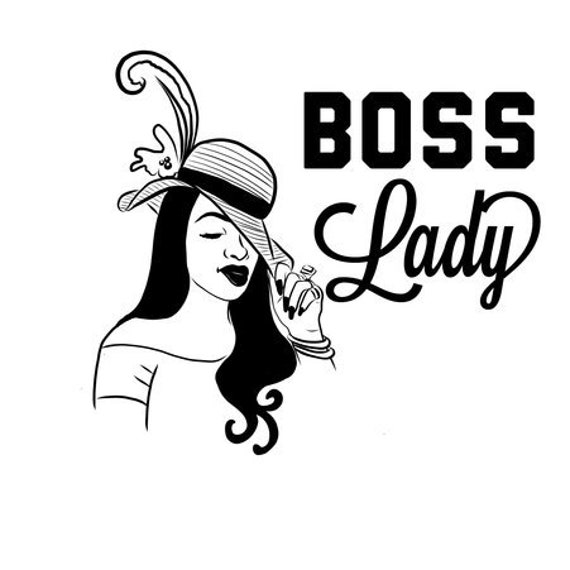 Boss Lady Salon Curly Pretty Girl Strong Rich Female Black Woman Svg Eps Jpg Vector Clipart Cutting Circuit Design T Shirt