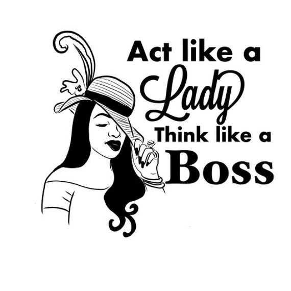 Quote Classy Boss Lady Salon Pretty Girl Strong Empowered Female Black Woman Svg Eps Jpg Vector Clipart Cutting Circuit Design T Shirt