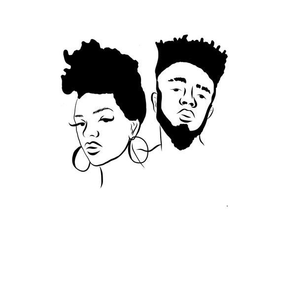 black couple love relationships black woman black man svg