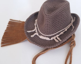 0583c8d74cf Baby Cowboy Hat Newborn Photo Props Baby Boy Shower Gift Crochet Cotton Hats  Toddler Halloween Costume Cute Hats by Mila
