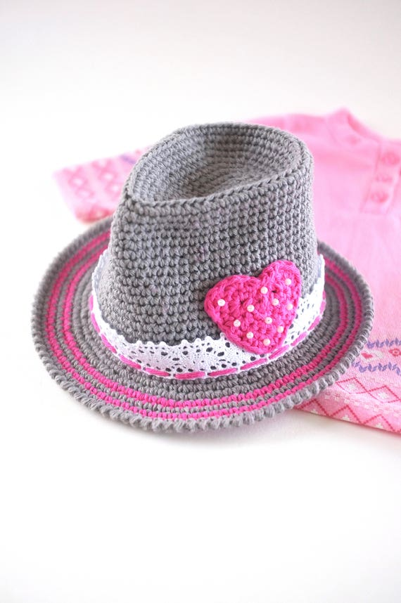 Valentine Baby Girl Fedora Hat Newborn Photo Props Baby Girl  84f3e82308b7