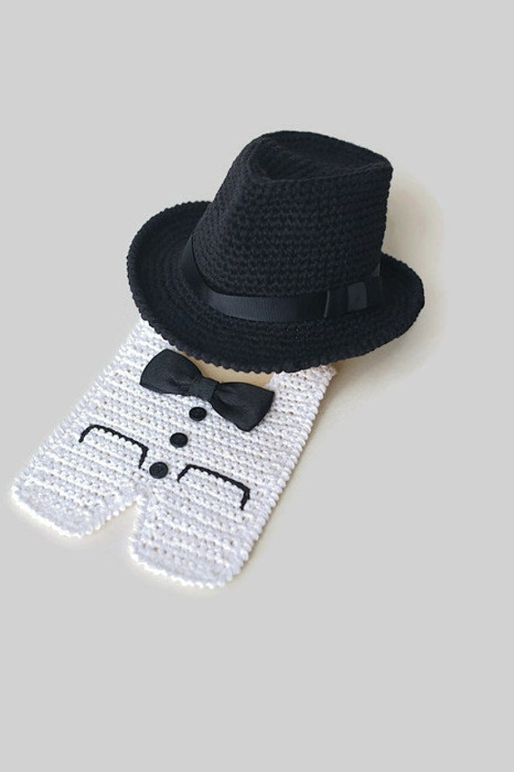 18a21396fe0 Newborn Fedora Hat and Tuxedo Bib Halloween Costume Baby