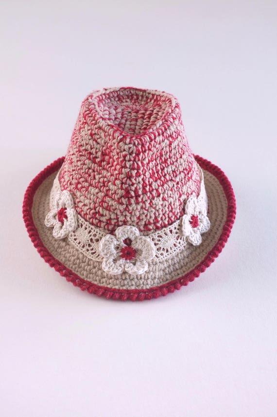 b23afc024dd Infant Girls Fedora Hat Tweed Baby Fedora Baby Girl Fedora
