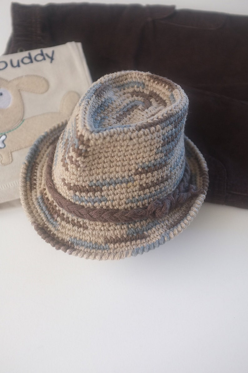 bffc5afc4 Multicolor Fedora Hat Baby Boy Newborn Photography Baby Boy Shower Gift  Cotton Crochet Hat Infant Fedora Cute Baby Hats
