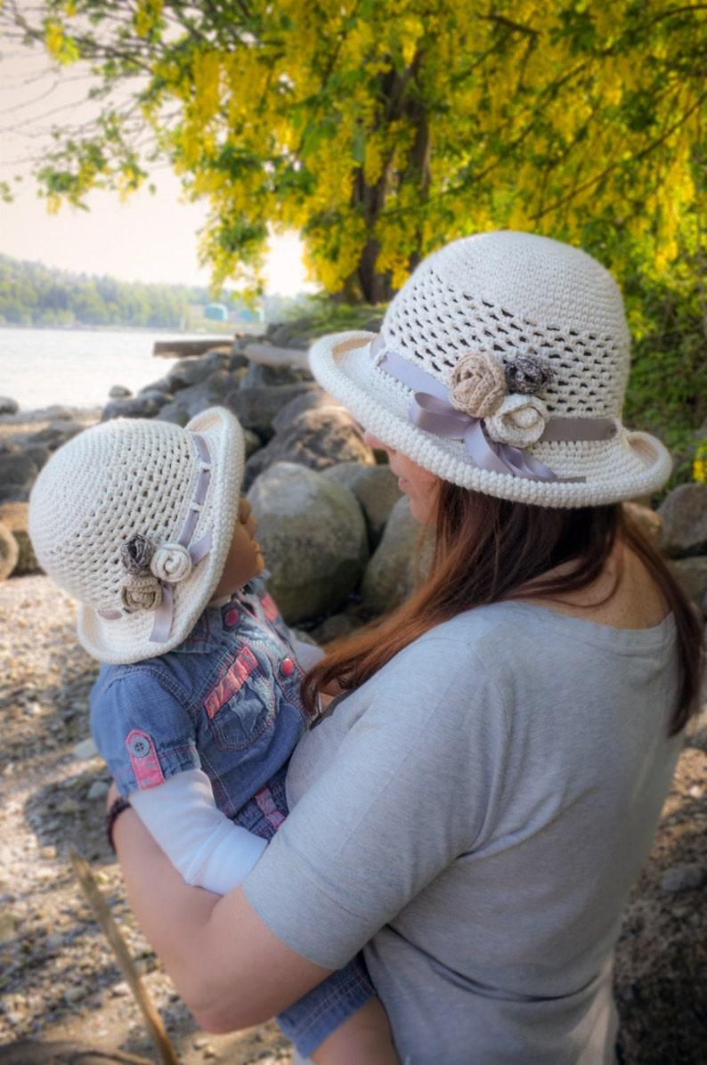 Crochet Summer Hat Cotton Sun Hat Wide Brimmed Beach Hat Gift for Her Church Hat Garden Party Hat Cool Hats Christmas Gift for Her