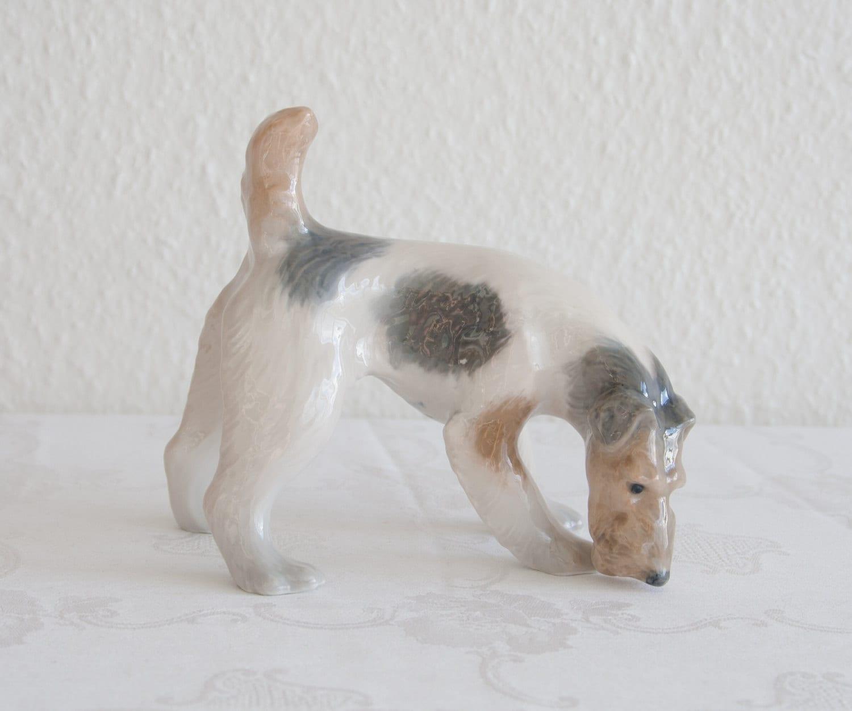 Royal Copenhagen Wire Haired Fox Terrier 3020 Porzellan | Etsy