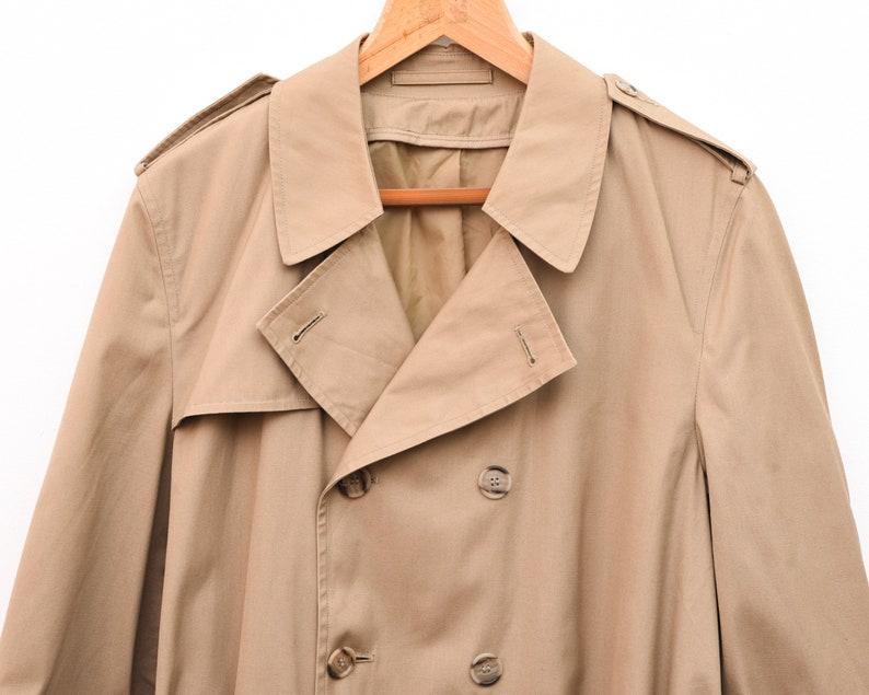 LONDON FOG Vintage Men/'s UK 42 Belted Trench Coat Beige Jacket Raincoat Mac Made In usa Jacket Mac Retro Mod Style Everyday Casual 1s