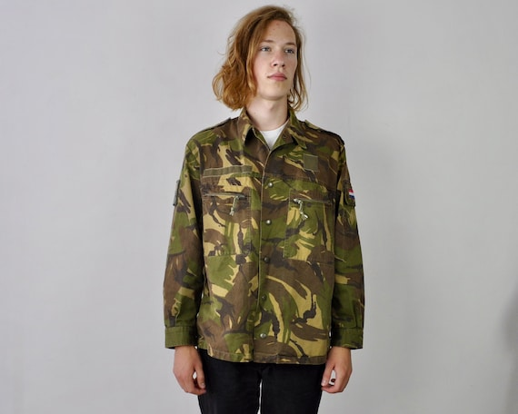Woodland Adult Sizes Small /& Medium Only Army /& Military Fleecy Knit Crew