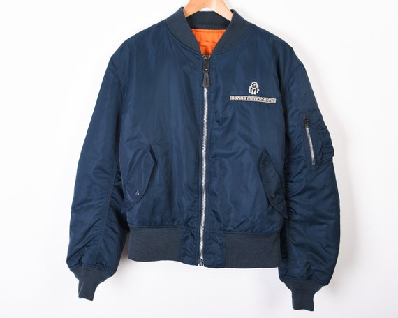 ALPHA INDUSTRIES Men's L Reversible ma-1 jacket, B