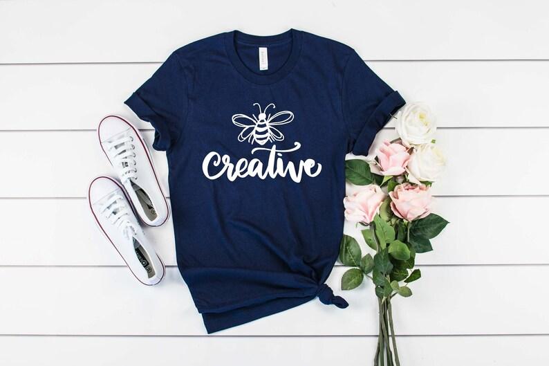 5ac343d2 Bee Creative Tshirt Bumble Bee Art Trendy Tee Tshirts | Etsy