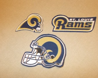 NFL - St Louis Rams Sew on or No Sew Appliques - Limited Supply 3f51114a3