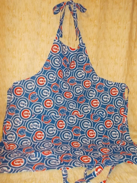 Chicago Cubs Kitchen BBQ Apron with  Adjustable Neck Ties