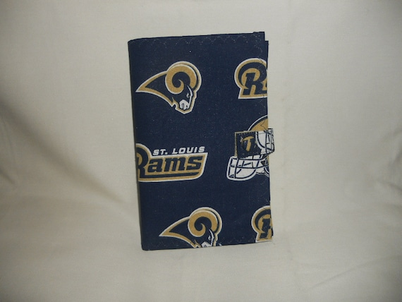St Louis Rams Fabric Cover for 6x4 Memo Notebook