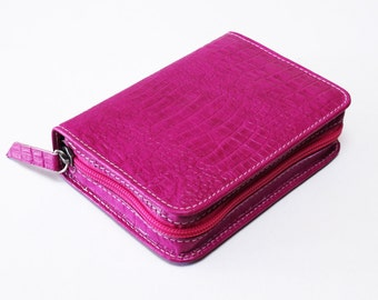 Small Pocket Size - Hot Pink Leather Bible Cover Jehovah's Witness New World Translation