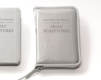 Clear Plastic Bible Cover - Deluxe /Standard Size -  Many Color Options - Jehovah's Witness - Zippered - New World Translation