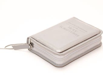 Small Pocket Size - Clear Plastic Bible Cover Jehovah's Witness - Zippered - New World Translation