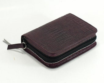 Small Pocket Size - Purple Leather - New World Translation 2013 Jehovah's Witness Bible Cover - NWT