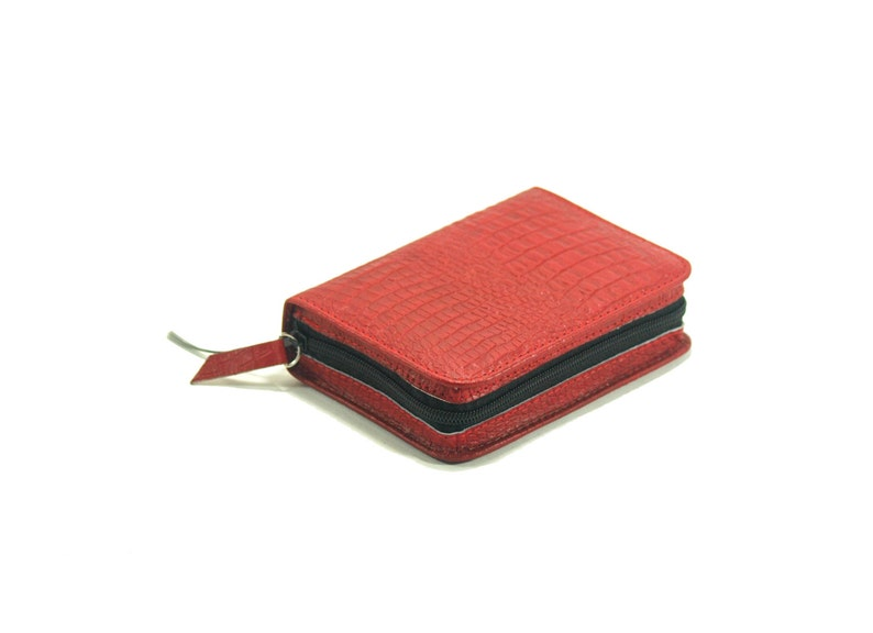 SMALL Genuine Leather Small Pocket Size Bible Cover New World image 0