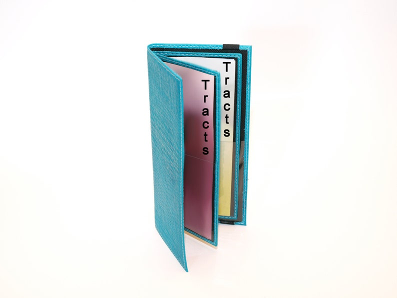 Jehovah's Witness Tract Holder  Turquoise Blue JW image 0