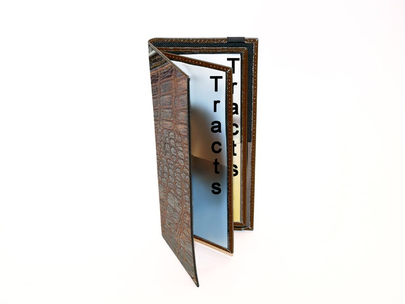 Genuine Leather Tract Holder for Jehovah's Witnesses  image 0