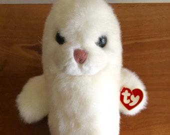 Vintage TY Beanie Buddy Misty - White Plush Seal - Wild Animal Toys 4359dbaa19dd