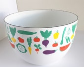 Kaj Franck Enamelware Vegetable Bowl - Arabia Finland - Mid Century Scandinavian - Mod Kitchen