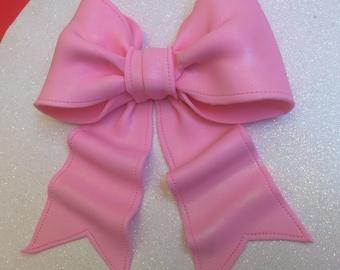 Pink bow gum paste fondant for birthday cake