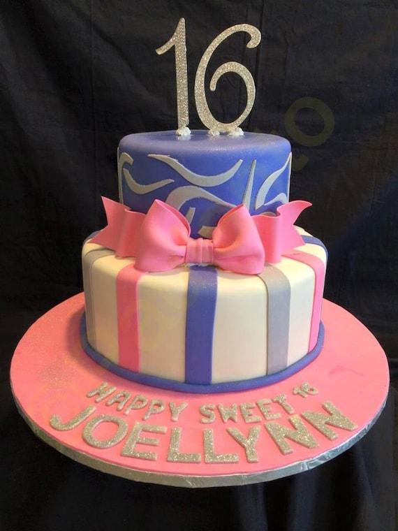 Admirable Pink Bow Gum Paste Fondant For Birthday Cake Etsy Personalised Birthday Cards Epsylily Jamesorg