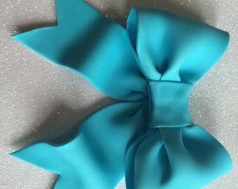 Blue bow gum paste fondant for birthday cake