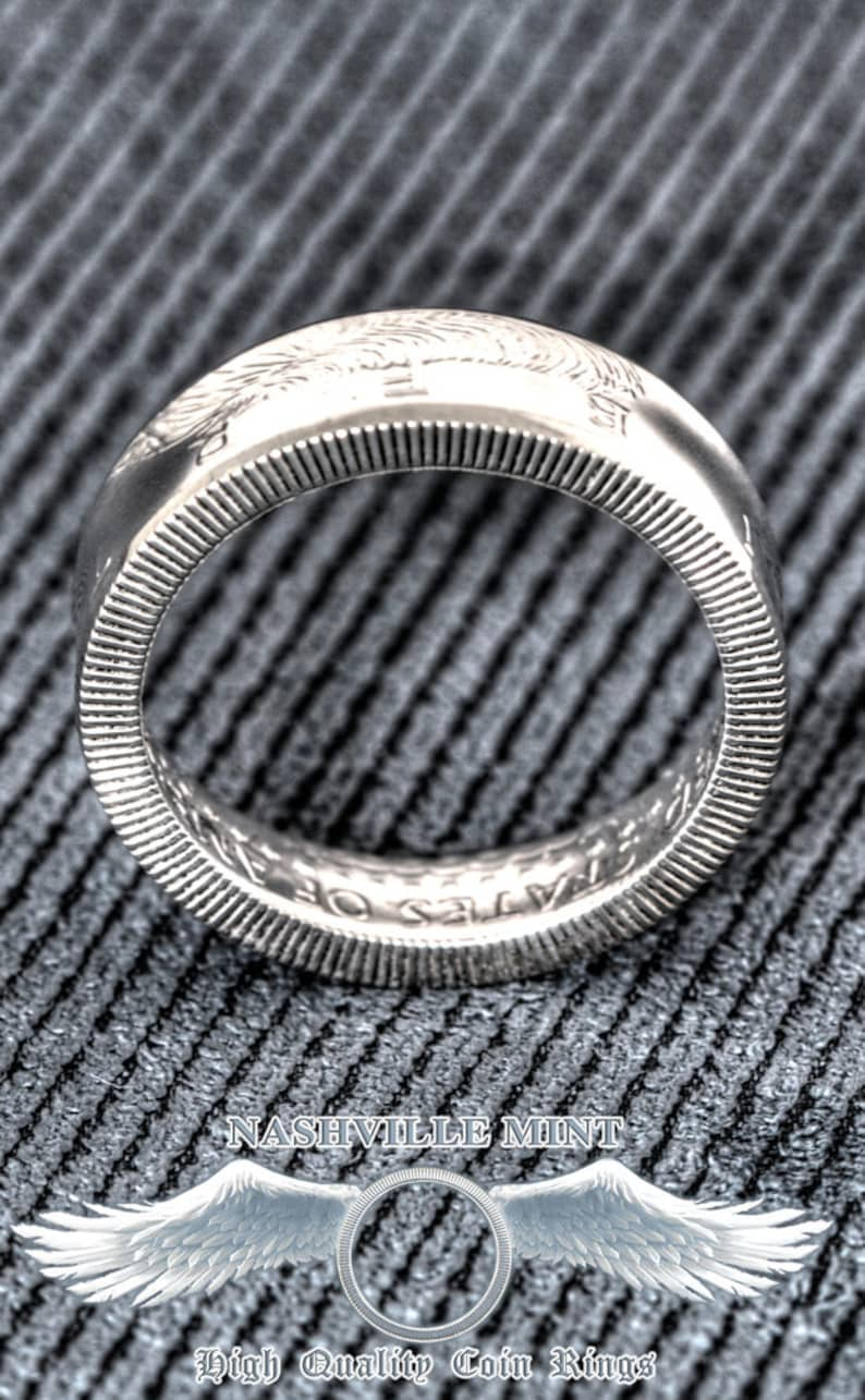 1994 Silver Half Dollar Coin Ring CoinRing Silver JFK Kennedy Size 7-17 25th Birthday Gift 25 Year Silver Anniversary Wedding Band Coin Ring