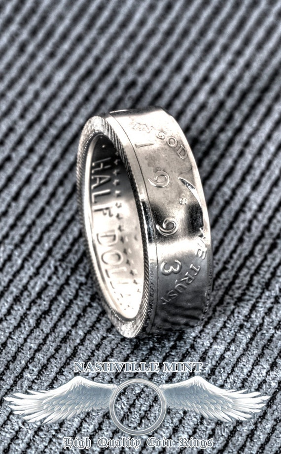 Coin Ring 1993 Silver Half Dollar Coinring Jfk Kennedy 26th Etsy
